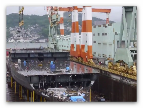 #كيفية بناء سفينة سياحية ضخمة …